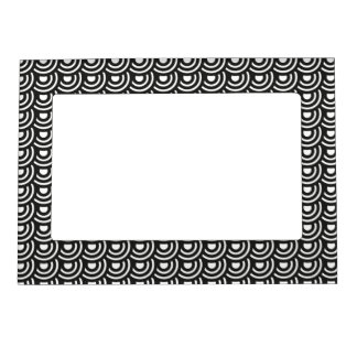 NY Art Deco Metropolitan Modern Black and White Magnetic Picture Frame