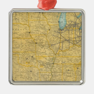 NY Central Lines Christmas Ornament