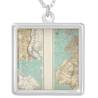 NY City, Brooklyn Silver Plated Necklace
