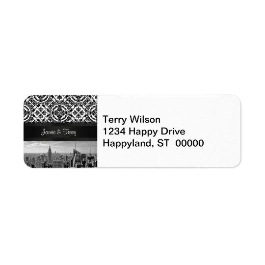 NY City Skyline 431 Customisable Return Address Return Address Label