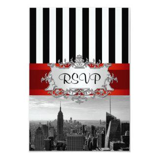 NY City Skyline BW Invitation Suite - B2 RSVP F2