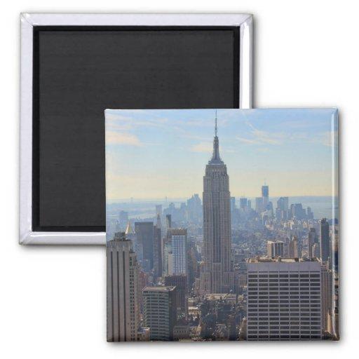 NY City Skyline Empire State Building, World Trade Refrigerator Magnet