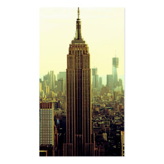 NY City Skyline Empire State Building, WTC 5 Business Card Templates