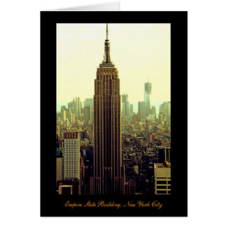 NY City Skyline Empire State Building, WTC 5 Greeting Card