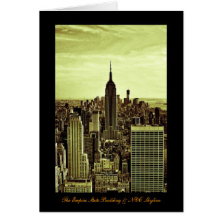 NY City Skyline Empire State Building, WTC 6 Greeting Card
