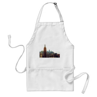 NY City Skyline Empire State Building, WTC 7 Adult Apron