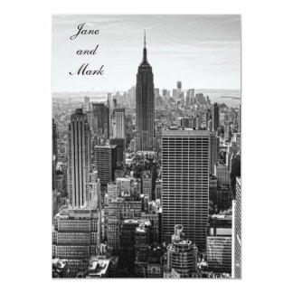 NY City Skyline Empire State Building, WTC BW Card