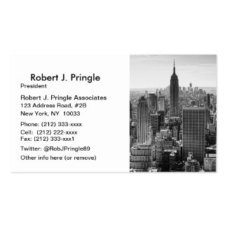 NY City Skyline Empire State Building, WTC BW Pack Of Standard Business Cards