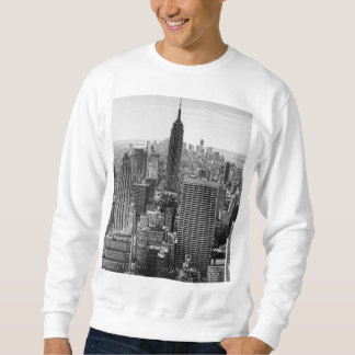 NY City Skyline Empire State Building, WTC BW Sweatshirt