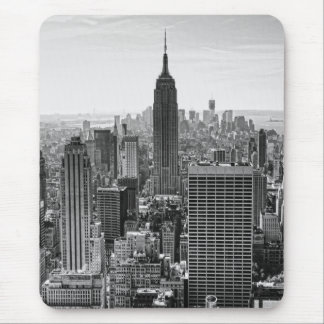 NY City Skyline Empire State Building, WTC BW V Mouse Mat