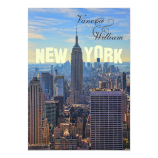 NY City Skyline Empire State Building, WTC Card