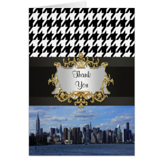 NY City Skyline Invitation Suite - B1 Thank You Note Card