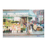 NY Corner Floral/Contemporary Impressionism Wrappe Stretched Canvas Prints