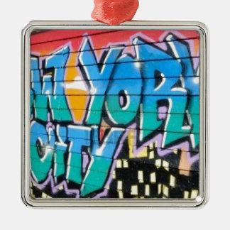 ny graffiti christmas ornament