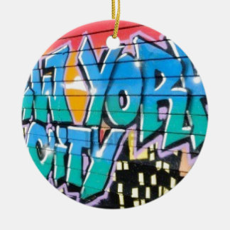 ny graffiti christmas ornament