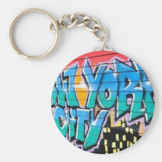 ny graffiti key ring