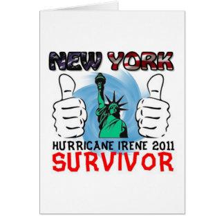 NY Hurricane Irene 2011 Survivor Card