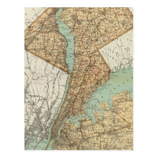 NY, Kings, Queens, Richmond, Rockland Postcard