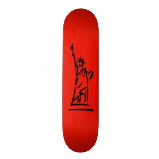 NY Lady Liberty Red Skate Decks