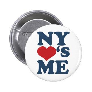 NY Loves Me 6 Cm Round Badge