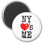 NY Loves Me 6 Cm Round Magnet
