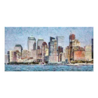 NY - Manhattan Customized Photo Card