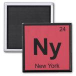 Ny - New York Chemistry Periodic Table Symbol City Magnets