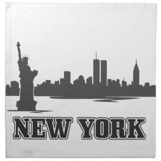 ny new york city retro vintage design napkin