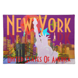 NY New York City Statue of Liberty USA Placemat