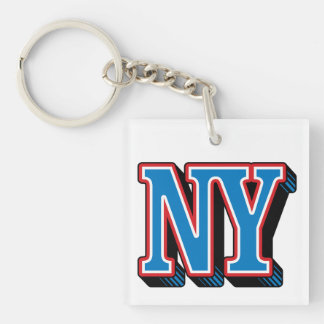 NY New York Square (double-sided) Keychain