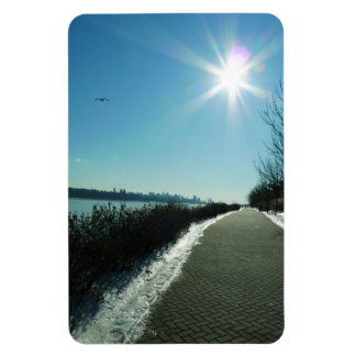 NY & NJ - Cold, Quite, But Beautiful Rectangular Photo Magnet