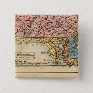 NY, NJ, Pa, Del, Md 15 Cm Square Badge