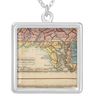 NY, NJ, Pa, Del, Md Silver Plated Necklace
