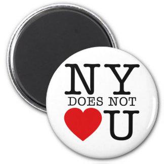 NY No Love 6 Cm Round Magnet