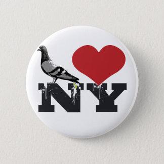 NY Pigeon 6 Cm Round Badge