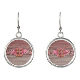 NY Pink Rustic Lily Earrings