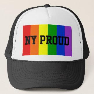 NY Proud Gay Rainbow Flag Ball Cap