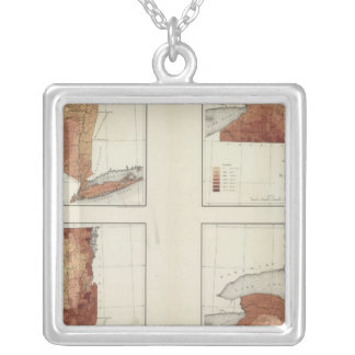 NY rainfall, population, elevation, temperature Silver Plated Necklace
