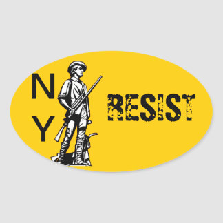 NY RESIST OVAL STICKER