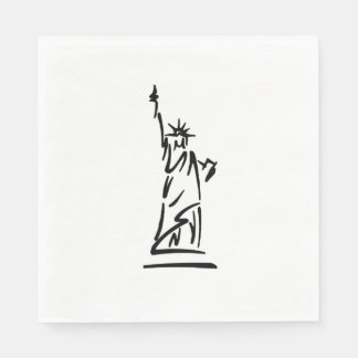 NY Statue of Liberty Disposable Napkins