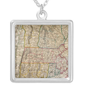 NY, Vt, Maine, NH, Mass, Conn, RI, NJ Silver Plated Necklace