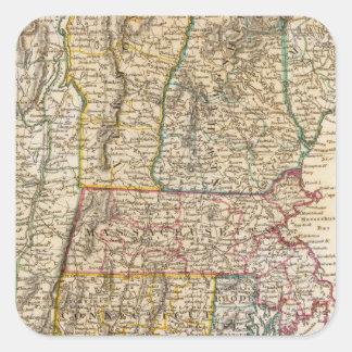 NY, Vt, Maine, NH, Mass, Conn, RI, NJ Square Sticker