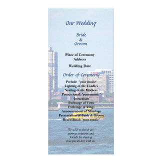 NY Water Taxi Wedding Program Personalised Rack Card