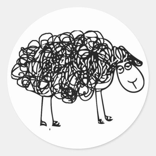 NYAHM Logo black sheep Classic Round Sticker