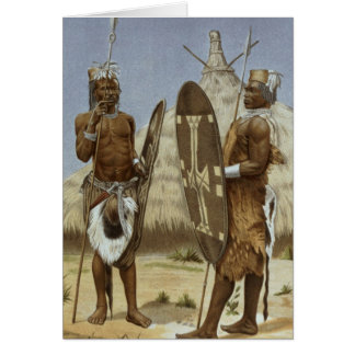 Nyam-nyam warriors from The History of Mankind Card