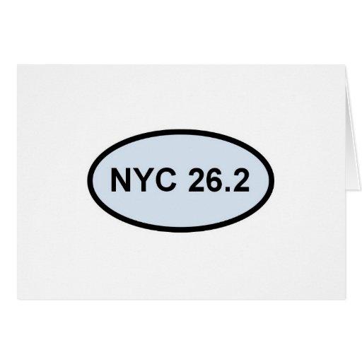 nyc 26.2 pride 2.0 greeting cards