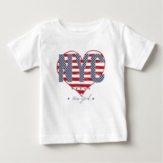 NYC American Flag Heart Baby T-Shirt