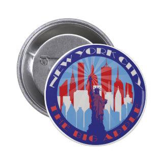 NYC Big Apple Patriot 6 Cm Round Badge