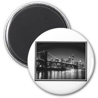 NYC black and white Magnet
