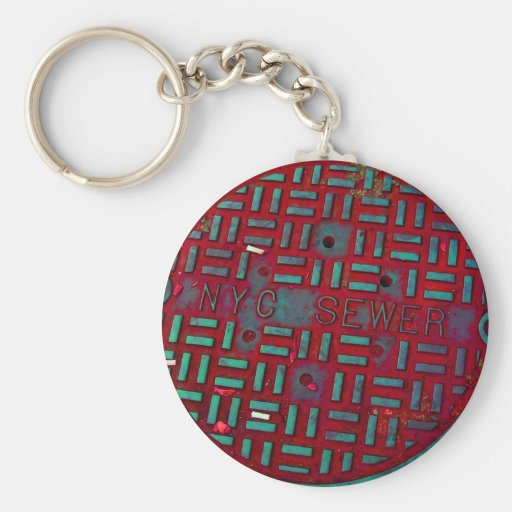 NYC Broadway Street Manhole Cover Key Chain